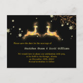 Winter Reindeer Couple Save the Date Postcards