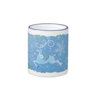 Winter Reindeer Coffee Mugs