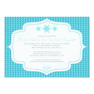 Winter Retro Bridal Shower Invitations