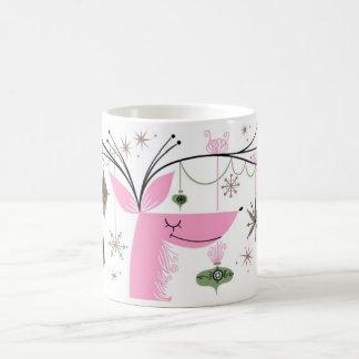 Winter retro reindeer and ornament mug