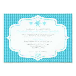 Winter Retro Wedding Invitations