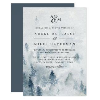 Winter Reverie Monogram Wedding Invitation