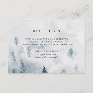 Winter Reverie Reception Card