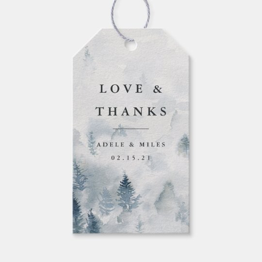 Wedding Thank You Gift Tags: Winter Reverie Wedding Thank You Favor Gift Tags