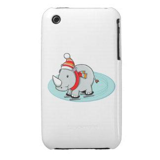Winter Rhino Ice Skater iPhone 3 Case-Mate Case