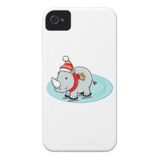 Winter Rhino Ice Skater iPhone 4 Cover