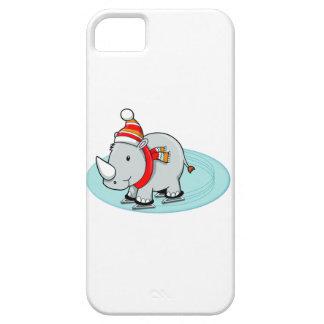 Winter Rhino Ice Skater iPhone SE/5/5s Case