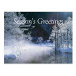 Winter River - Customizable Postcards