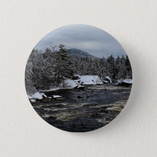 Winter River Pinback Button