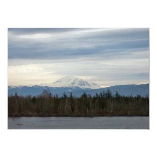 Winter River View 5x7 Paper Invitation Card
