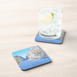 Winter Road Beverage Coaster