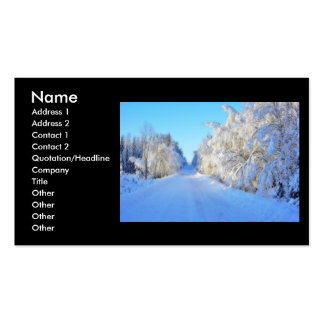 Winter Road Business Card Templates