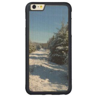 Winter Road Carved Maple iPhone 6 Plus Bumper Case