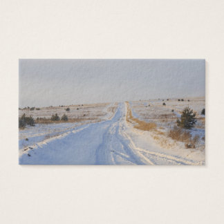 Winter Road in the Fields Business Card