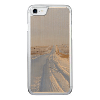 Winter Road in the Fields Carved iPhone 8/7 Case