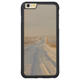 Winter Road in the Fields Carved Maple iPhone 6 Plus Bumper Case