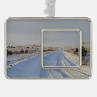 Winter Road in the Fields Christmas Ornament