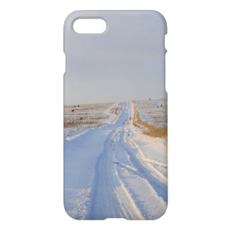 Winter Road in the Fields iPhone 8/7 Case