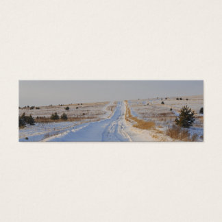 Winter Road in the Fields Mini Business Card