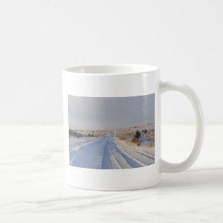 Winter Road in the Fields Mugs