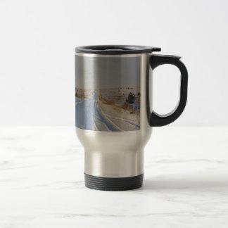 Winter Road in the Fields Coffee Mugs