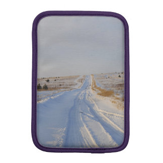 Winter Road in the Fields Sleeve For iPad Mini