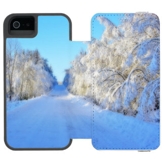 Winter Road iPhone SE/5/5s Wallet Case