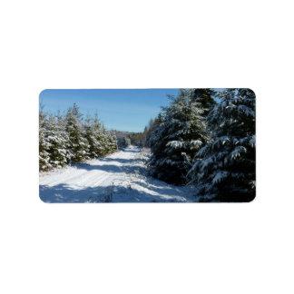 Winter Road Label