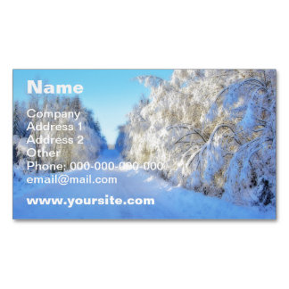 Winter Road Magnetic Business Card