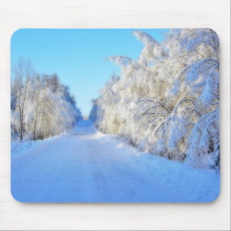 Winter Road Mouse Pad