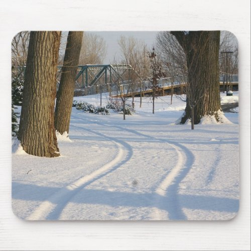 Winter Road Mousepad mousepad