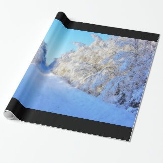 Winter Road Wrapping Paper