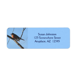 Winter Robin Animal Address Label