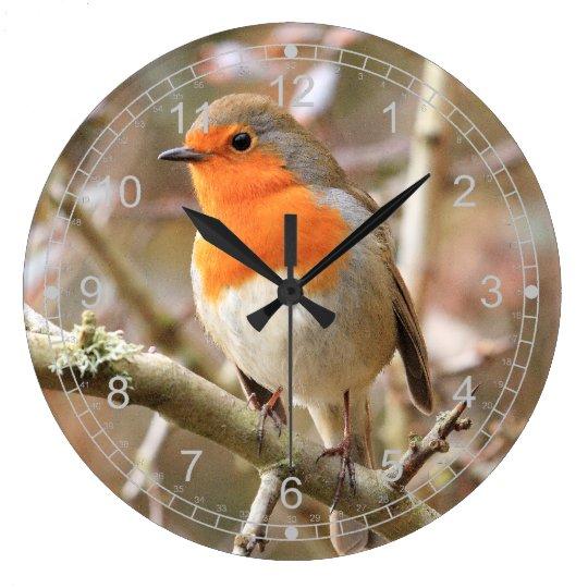 Winter Robin Large Clock