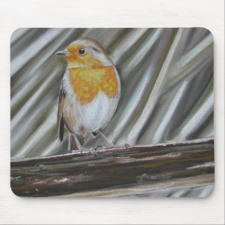 Winter Robin Mouse Pad