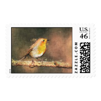 Winter Robin Postage stamp