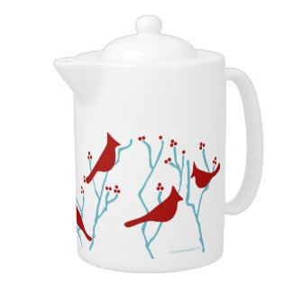 Winter Robin Teapot