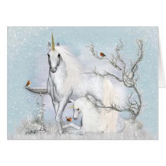 Winter Robins and Unicorns (36x48) Big Card