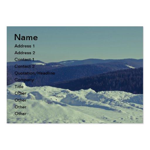 Winter romanian landscape business card