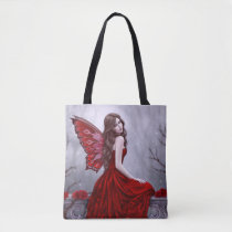 Winter Rose Butterfly Fairy AllOver-Print Tote Bag