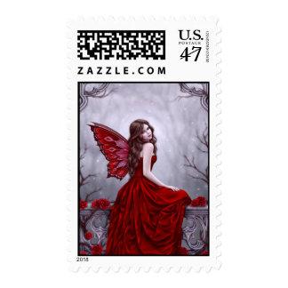 Winter Rose Butterfly Fairy Custom Postage