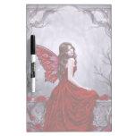 Winter Rose Butterfly Fairy Dry Erase Board
