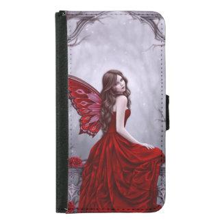 Winter Rose Butterfly Fairy Galaxy S5 Wallet Case