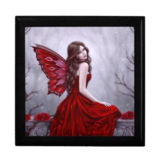 Winter Rose Fairy Art Keepsake Box