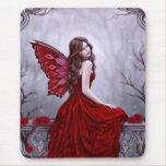 Winter Rose Fairy Art Mousepad