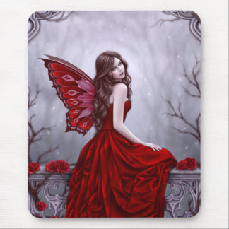 Winter Rose Fairy Art Mousepad