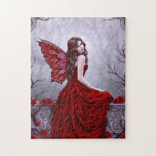 Winter Rose Fairy Art Puzzle
