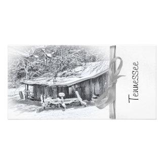 Winter Rural Scene of Barn and Rake - Tennessee Photo Card Template