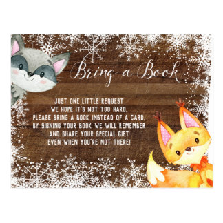 Winter Rustic Animal Woodland Books for Baby Card