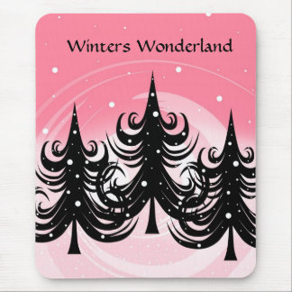 Winter (s)  Wonderland - Mouse Pad - Pink